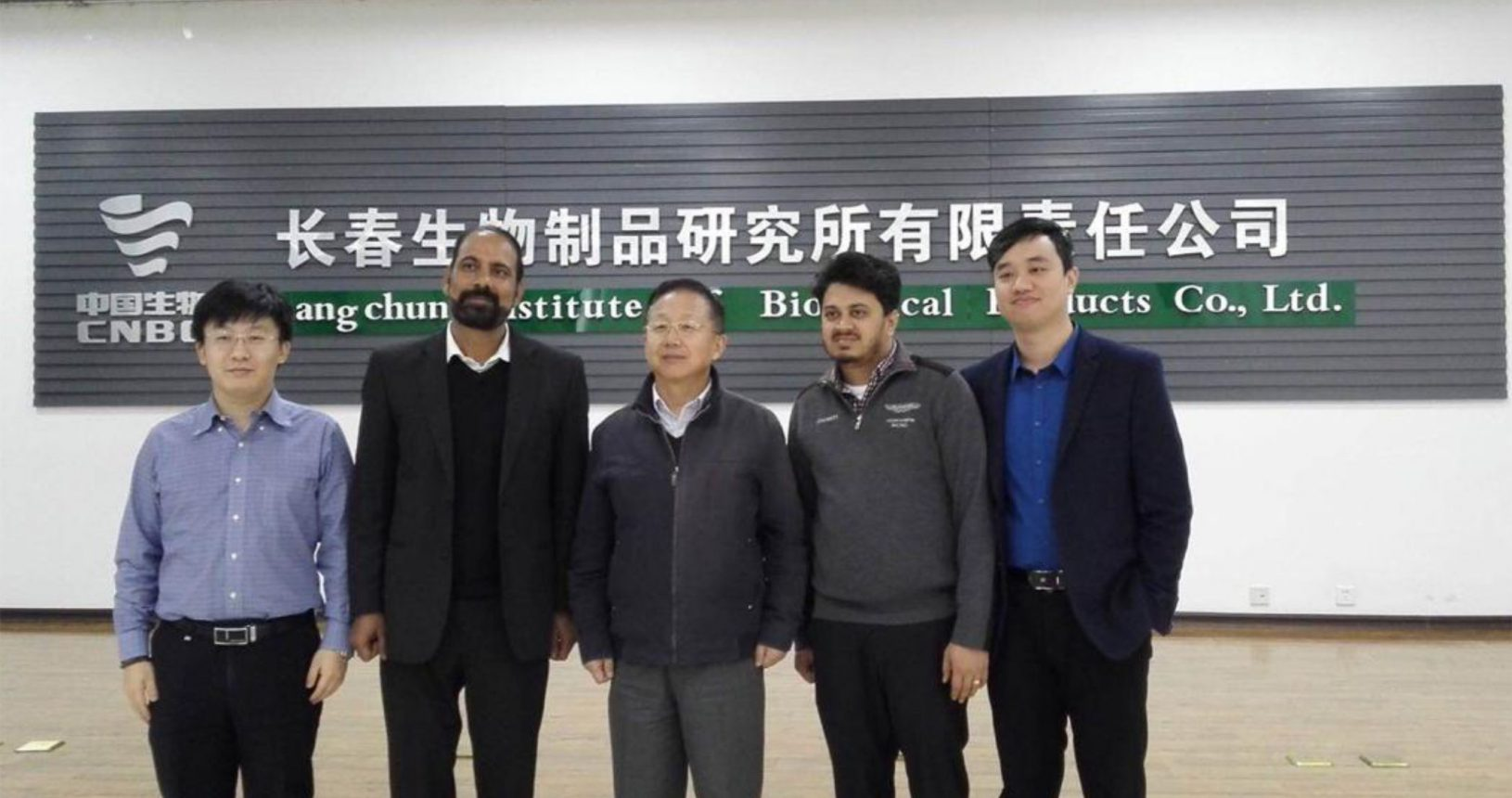 Mr. Pranav Bhagat with Mr. Mathew at Chang Chun institute of Biological products China