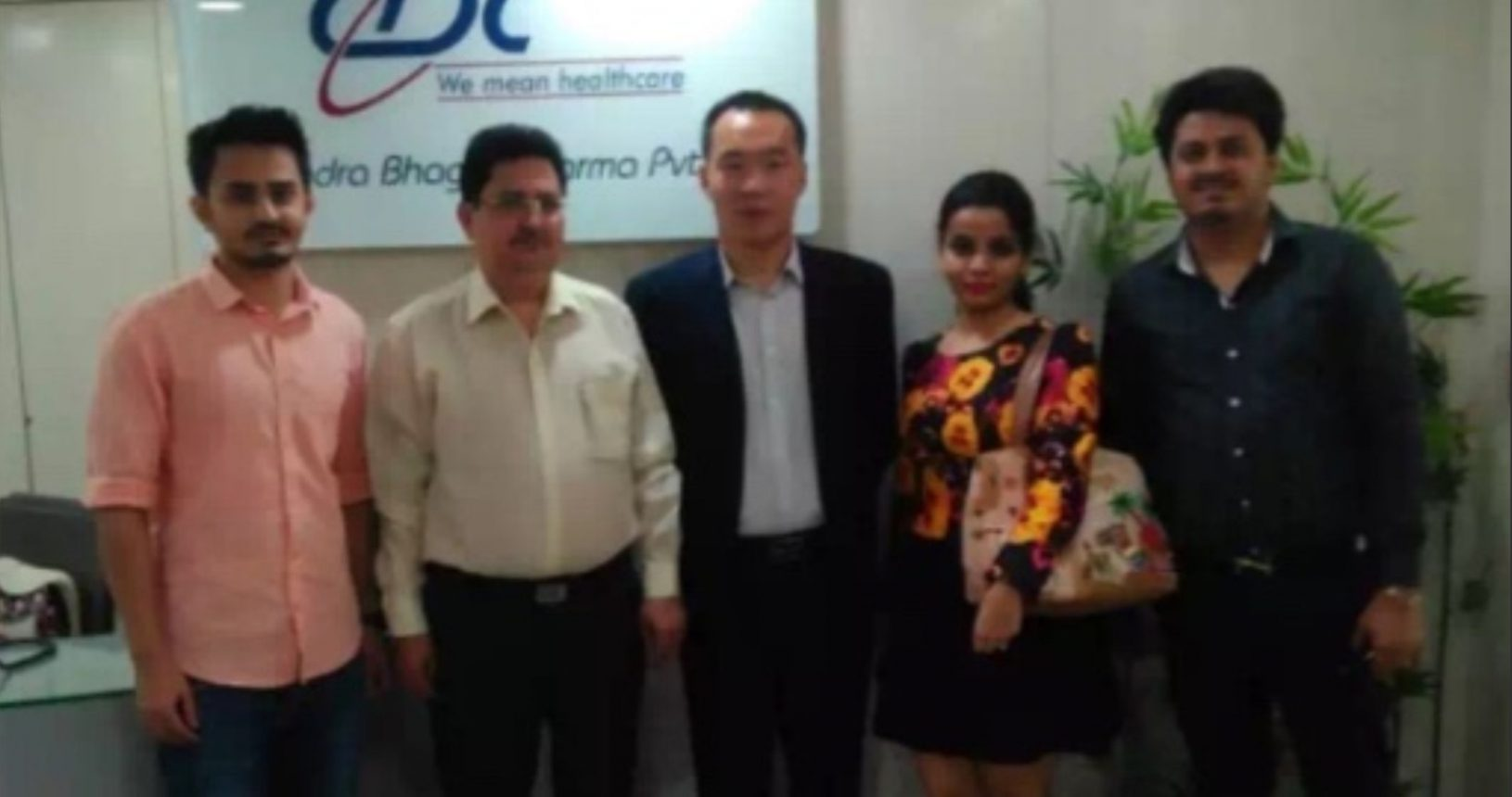 Mr. Hemant Bhagat, Mr. Pranav Bhagat & Ms. Prachi Bhagat with Mr. Peter Export Manager Kexing Pharma China