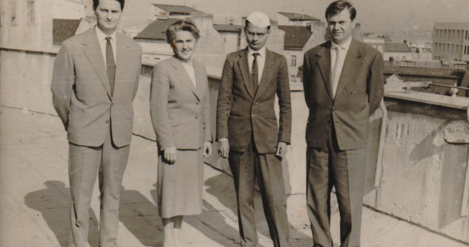 Mr. C. C. Bhagat with Mr. Zarko Mamula, Mrs. Olga Perin & Mr. Dragoljub Cicak in Yugoslavia